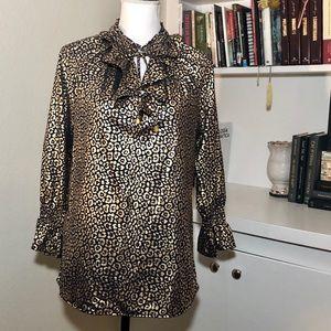 Elegant Michael Kors cheetah Print Blouse